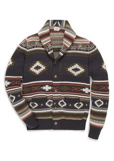 Faherty Heritage Motif Shawl Collar Cardigan