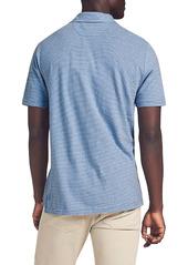 Faherty Isle Stripe Short Sleeve Polo Shirt