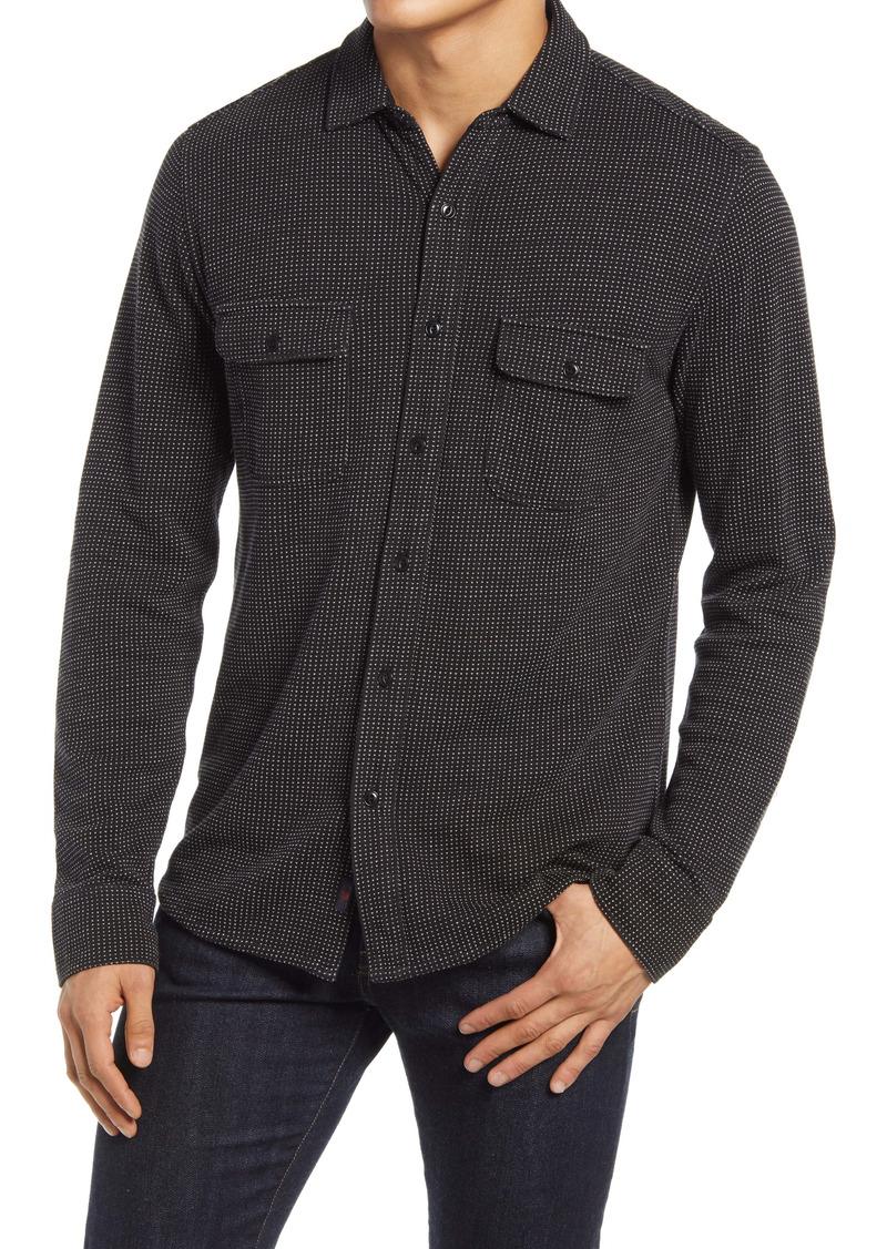 Faherty Knit Dobby Shirt Jacket