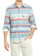 Faherty Legend Stretch Stripe Button-Up Shirt