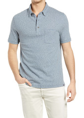 Faherty Luxe Heathered Short Sleeve Polo