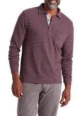 Faherty Luxe Stripe Long Sleeve Polo
