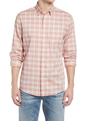 Faherty Movement Check Button-Up Performance Shirt