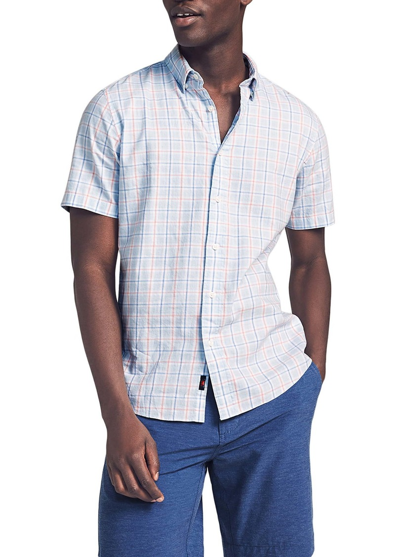 Faherty Movement Check Short Sleeve Button-Up Shirt