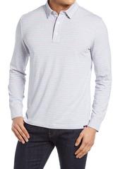Faherty Movement Stripe Long Sleeve Polo Shirt