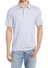 Faherty Movement Stripe Short Sleeve Polo Shirt