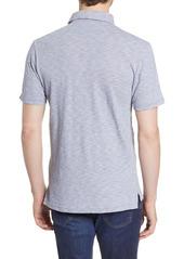 Faherty Pinstripe Short Sleeve Pocket Polo