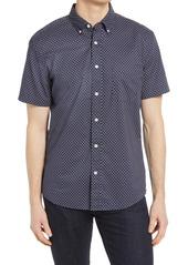 Faherty Playa Foulard Print Short Sleeve Button-Down Shirt