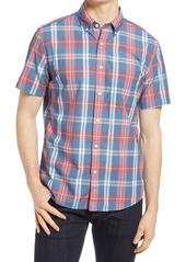 Faherty Playa Plaid Short Sleeve Button-Down Shirt