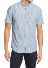 Faherty Playa Regular Fit Print Short Sleeve Button-Down Shirt
