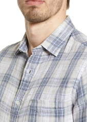 Faherty Regular Fit Plaid Linen Button-Up Shirt
