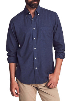 Faherty Regular Fit Stretch Oxford Button-Down Shirt