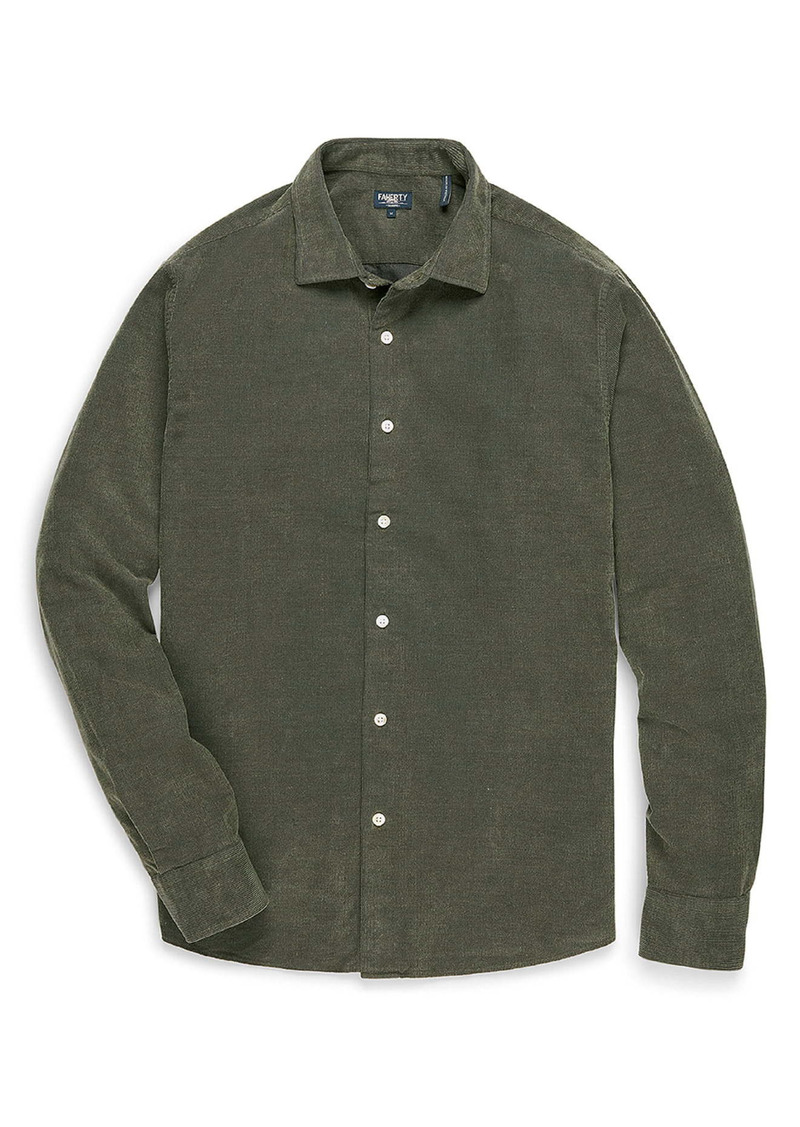 Faherty Reserve Button-Up Corduroy Shirt