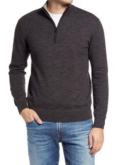 Faherty Sconset Cotton & Cashmere Quarter Zip Pullover