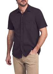 Faherty Seasons Regular Fit Knit Short Sleeve Button-Up Shirt