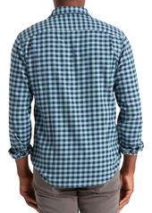 Faherty Seaview Plaid Stretch Flannel Button-Up Shirt