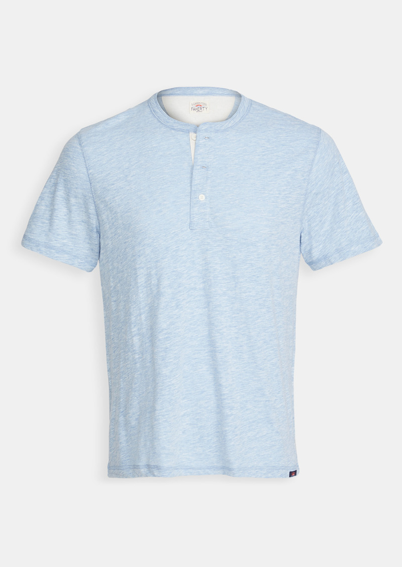 Faherty Short Sleeve Heather Henley