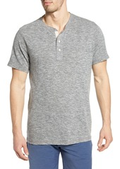 Faherty Short Sleeve Heathered Henley