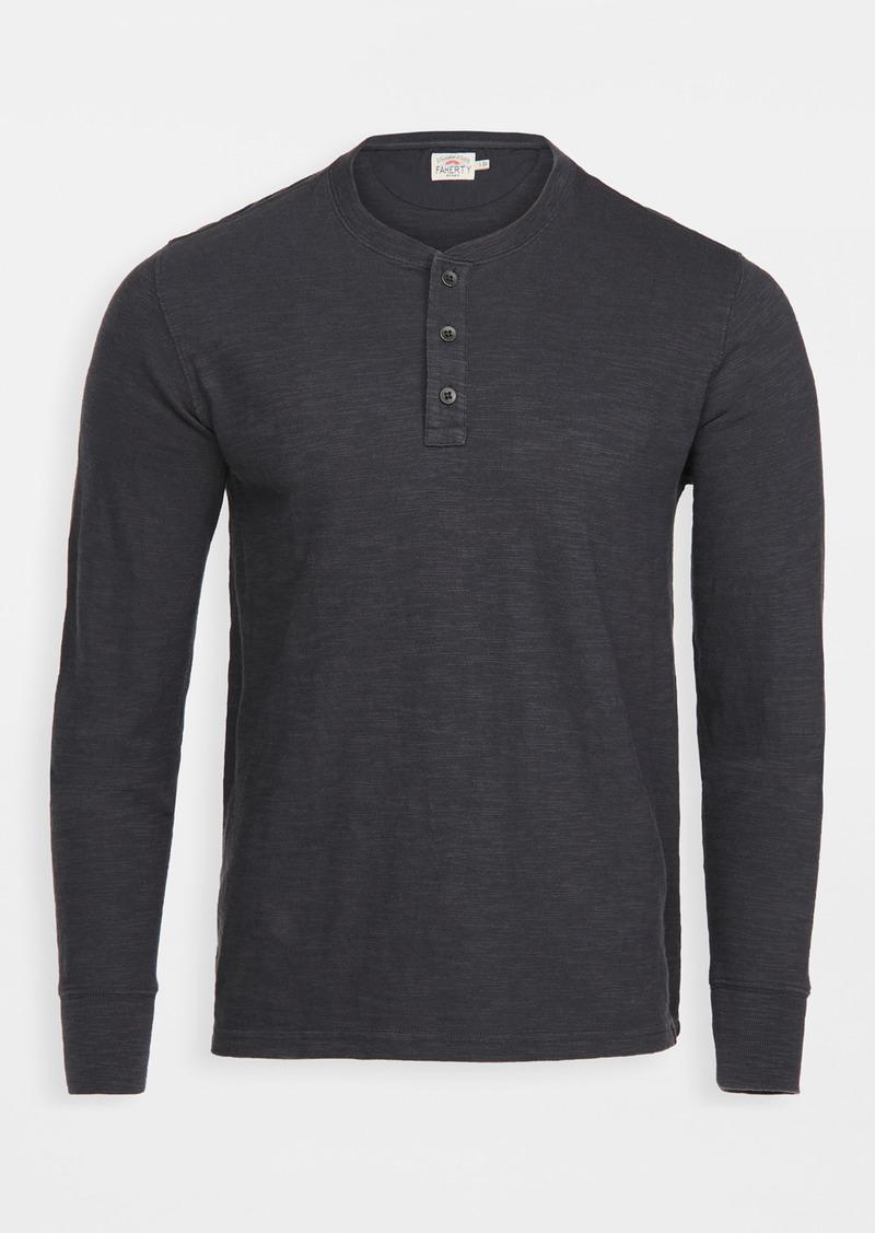 Faherty Slub Cotton Henley Shirt