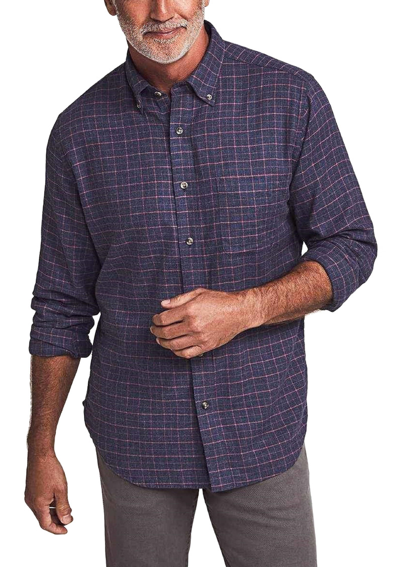 Faherty Stretch Featherweight Flannel Button-Down Shirt