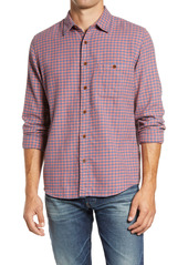 Faherty Stretch Seaview Check Flannel Button-Up Shirt