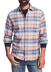 Faherty Stretch Seaview Plaid Flannel Button-Up Shirt
