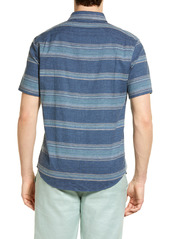 Faherty The Breeze Stripe Short Sleeve Button-Up Shirt