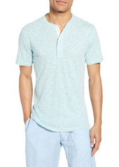Faherty Heathered Short Sleeve Henley