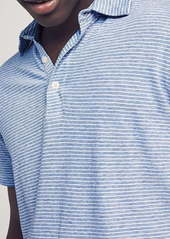 Faherty Isle Stripe Short Sleeve Polo Shirt