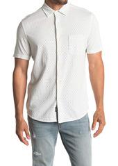 Faherty Knit Coast Short Sleeve Dobby Slim Fit Shirt