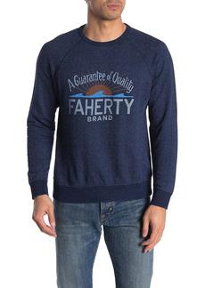 Faherty Logo Raglan Crew Neck Sweater
