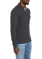 Faherty Luxe Heather Long Sleeve Polo