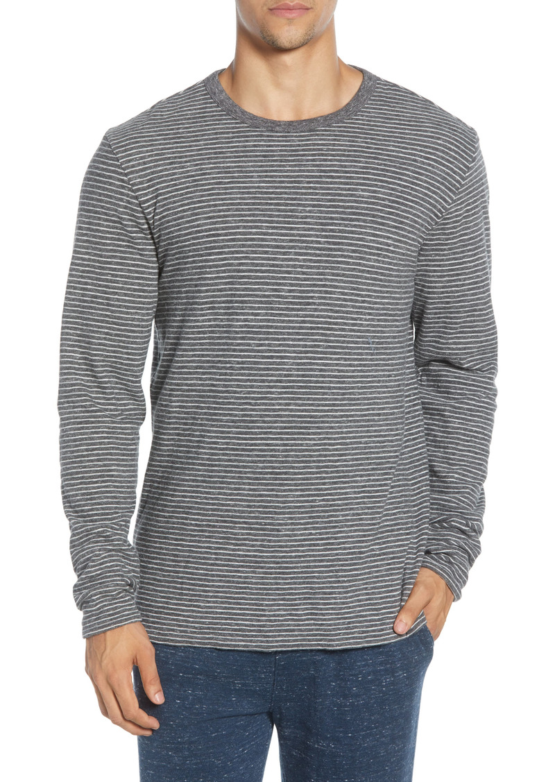 Faherty Luxe Heather Regular Fit Reversible Crewneck T-Shirt