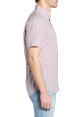 Faherty Movement Regular Fit Stretch Check Short Sleeve Button-Down Shirt