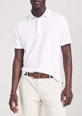 Faherty Reserve Linen Polo Shirt