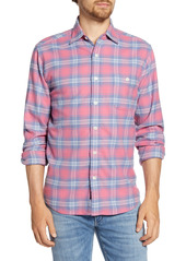 Faherty Seaview Regular Fit Plaid Flannel Button-Up Shirt