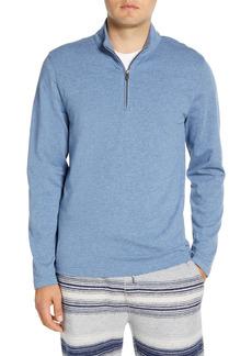 Faherty Suffolk Regular Fit Quarter Zip Pullover