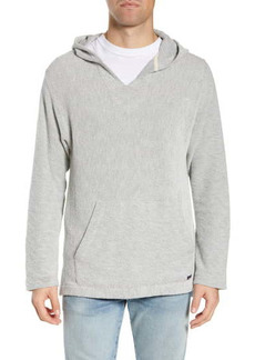 Faherty Textured V-Neck Pullover Hoodie