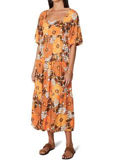 Faithfull the Brand Floral Tiered Midi Dress
