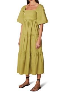 Faithfull the Brand Kiona Tiered Cotton Midi Dress