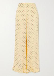 Faithfull the Brand La Ponche Ruffled Floral-print Pajama Pants