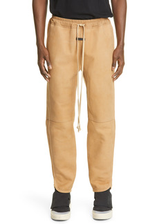 Fear of God Nubuck Leather Track Pants (Nordstrom Exclusive)