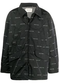 Fear of God logo printed jacket