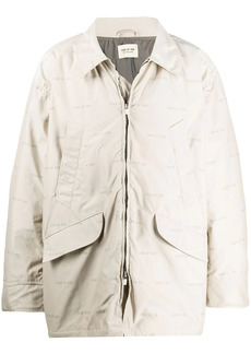 Fear of God logo single-breasted coat