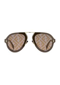 Fendi 53MM Aviator Logo Sunglasses