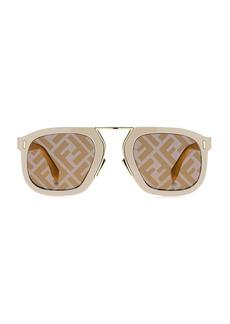 Fendi 53MM Square Logo Sunglasses