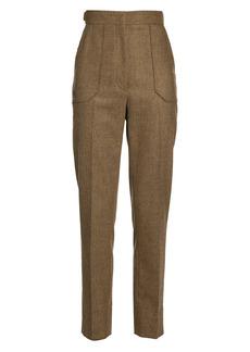 Fendi Cashmere Flannel High-Waist Pants