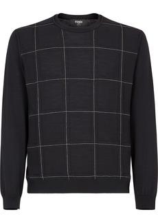 Fendi check-pattern jumper