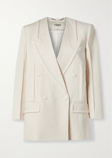 Fendi Double-breasted Linen Blazer