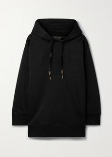 Fendi Embossed Metallic Jersey Hoodie